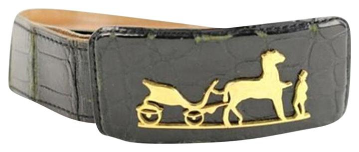 Hermès Crocodile Carriage Belt 106HERA823