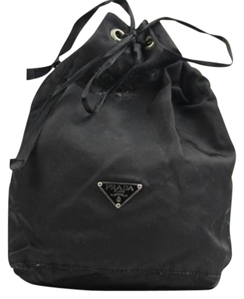 Prada Nylon Cosmetic Make Up Travel Mini Pouch Bucket Bag PRTY01