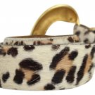 Judith Jack Leopard Print Calf Hide Belt Pony Hair JJTL02