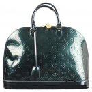 Louis Vuitton Vernis Alma Gm 28lva812 Green Satchel