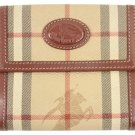 Burberry London BBSL27 Novacheck Double Snap Wallet