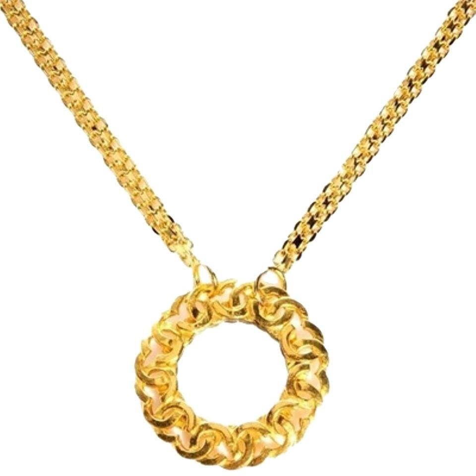 Chanel CC Trim Mirror Pendant With Bismarck Chain CCGR40