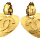 Chanel 95p CC Heart Earrings 210577