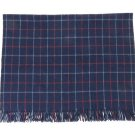 Burberry XL Blue Novacheck Scarf 210855