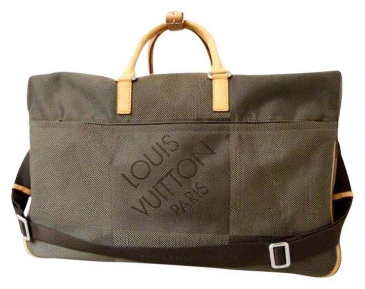 Louis Vuitton Geant Souverain Damier Graphite Bandouliere Keepall 211117 Terre Travel Bag