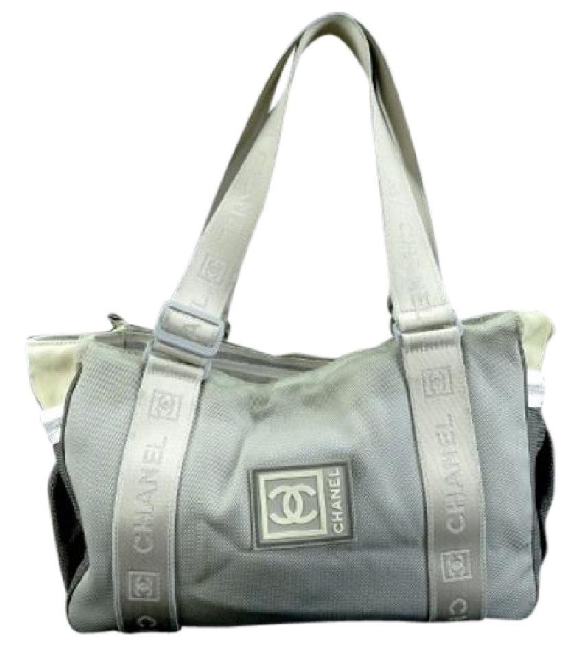 Chanel Cc Duffle 211338 Gray Tote Bag