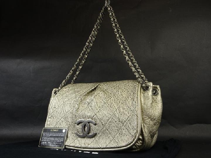 Chanel Metallic Quilted Jumbo 213305 Shoulder Bag