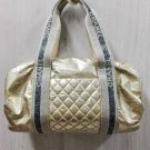 Chanel Metallic Boston 212076 Gold Satchel