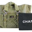 Chanel Quilted Reissue Jumbo 213440 Green Tote Bag