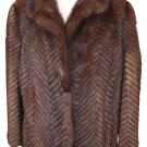 Chevron Quilted Mink 212066 Fur Coat