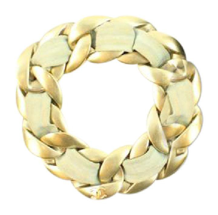 Chanel Brushed Gold Chain Bracelet 114CCA129