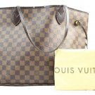 Louis Vuitton Neverfull Mm 212040 Damier Ebene Tote Bag