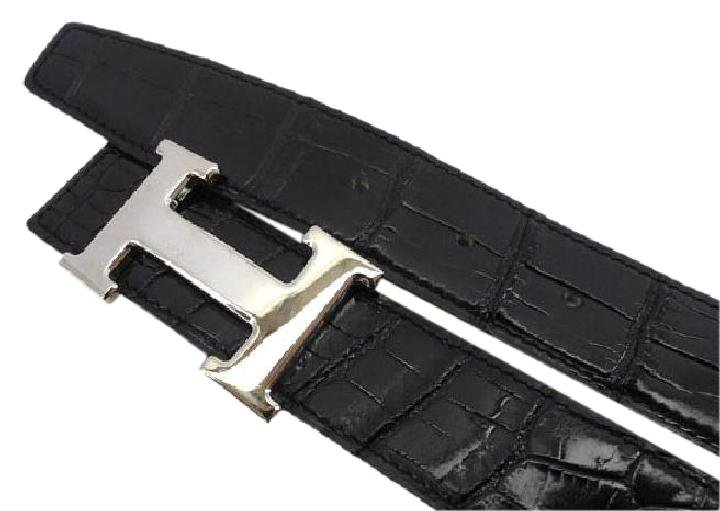 Hermès ( EXCELLENT - ) Crocodile H Logo Belt Kit 213172