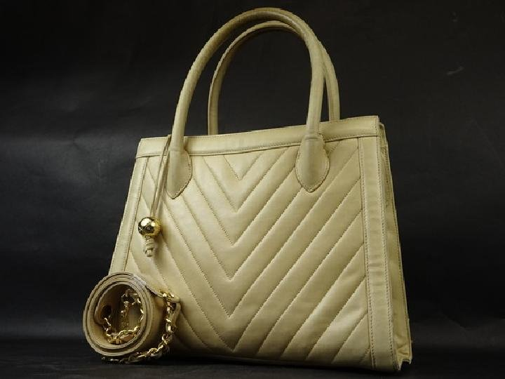 Chanel Quilted Chevron 2way Tote 212917 Shoulder Bag