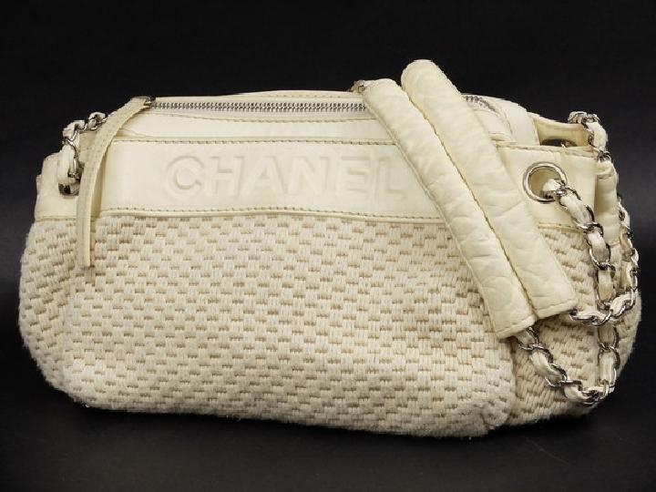 Chanel Woven Camera 214433 Shoulder Bag