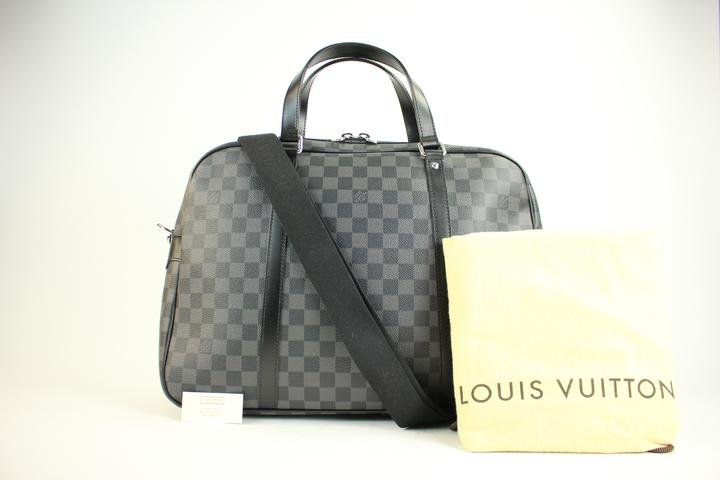 Louis Vuitton Damier Graphite Jorn Porte Documents Voyage 2way 49lva221 Travel Bag