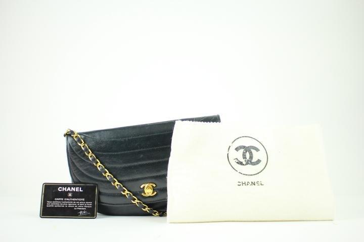 Chanel ( Rare ) Half Moon Flap 53cca3917 Shoulder Bag