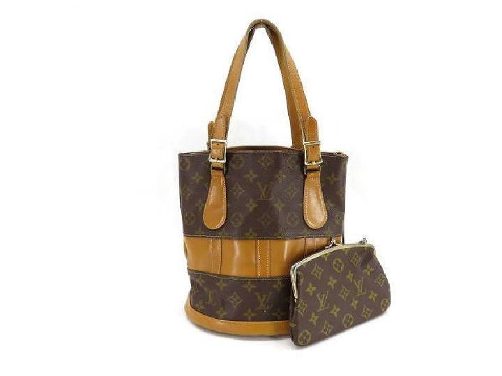 Louis Vuitton ( Rare ) Bucket + Kisslock Pouch 213581 Monogram Tote Bag