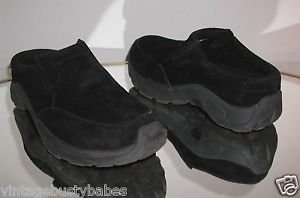 Cabela's Black Suede Leather Slip On MOCS Loafers Shoes,Size 8 M