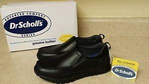 Dr.Scholl's Advanced Comfort Series, Men's Gel Cushion,Black Leather Shoes Sz.8