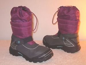 MERRELL WINTER BOOTS BERRY/BLUE SIZE 6