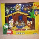NEW IN BOX  Veggie Tales Nativity Set