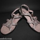 Minnetonka Pewter Slip On Strappy  Sandals  Women's Size 7
