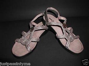 Minnetonka Pewter Slip On Strappy  Sandals  Women's Size 7