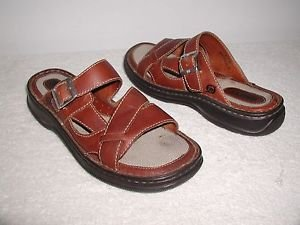 BORN HANDCRAFTED WOMENS KEIDES BROWN LEATHER SANDALS Sz.8 ,W/BOX