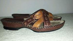 Clarks Artistan  Leather Slip on Sandals