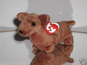 Ty Beanie Baby,Weenie the Dachshund Dog,3rd Gen. Tag
