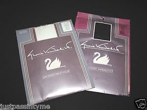 Gloria Vanderbilt size  B & C White & Black Pantyhose Daysheer Reinforced, NOS