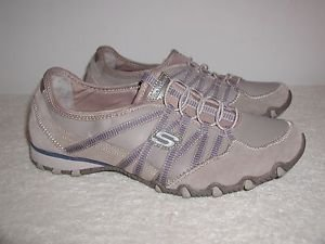 Skechers Bikers Sole Attraction Womens Sneakers  Color:Beige  Size 9