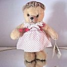 Bev Miller Shirley Temple Teddy,Fully Jointed Plush Bear With Tag