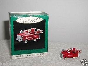 Hallmark 1996, Miniature Ornament Murray Fire Truck Kiddie Car Classics
