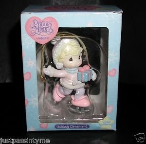 Precious Moments Winter Wonderland Ice Skating Girl Holiday Ornament