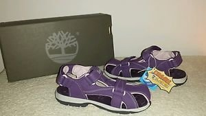 Timberland Madriver Closed Toe Purple  GIRLS Sandals Size  5 NEW IN BOX