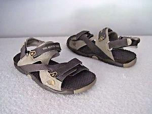 North Face Boy's Garcons Sandals,Earth Tone Brown/Beige Sz 4
