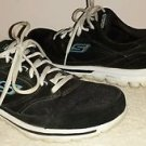Skechers GO WALK Black Lace Up Sneakers Sz. 9.5