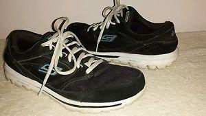 Skechers GO WALK Black Lace Up Sneakers Sz. 9.5