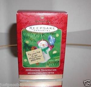 "Hallmark ""Millennium Snowma'am"" Holiday Ornament,Christmas Ornament"