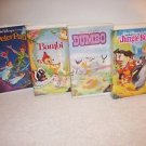 Disney BLACK DIAMOND Bambi, Dumbo,Peter Pan,The Jungle Book VHS Tapes