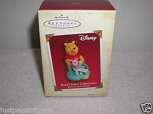 "Hallmark""Disney,Winnie The Pooh,"" Baby's First Christmas "",Christmas Ornament"