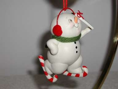 Department 56, Master of Form,Sporty Snowman Skater Ornament,New With Tags