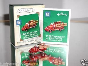 "Hallmark"" 1929 Chevrolet Fire Engine "" Holiday Ornament,Christmas Ornament"