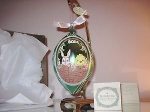 Waterford Holiday Heirlooms Egg Ornament,Mouth Blown,Hand Painted ITALY
