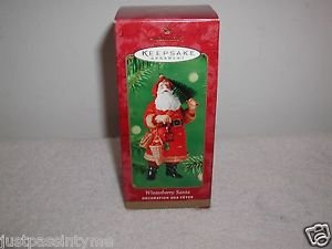 "Hallmark ""Winterberry Santa"" Holiday Ornament,Christmas Ornament"