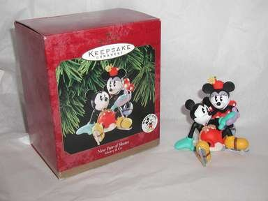 "Hallmark Keepsake, Mickey & Co""New Pair of Skates""Christmas,Holiday Ornament"