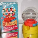 Rare Bank-O-Matic Bubble Gum Ball Machine Bank by Tarco,BOX,KEY & BUBBLE GUM