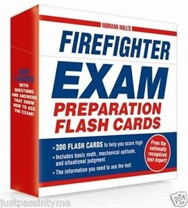 Firefighter Exam Preparation Flash Cards Fire Fighter Test Prep Study Help